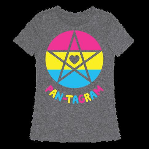 Pan-tagram (Pansexual Pentagram) Womens T-Shirt