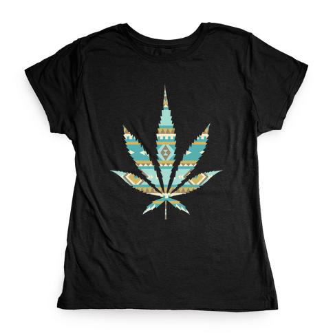 Navajo Leaf Womens T-Shirt