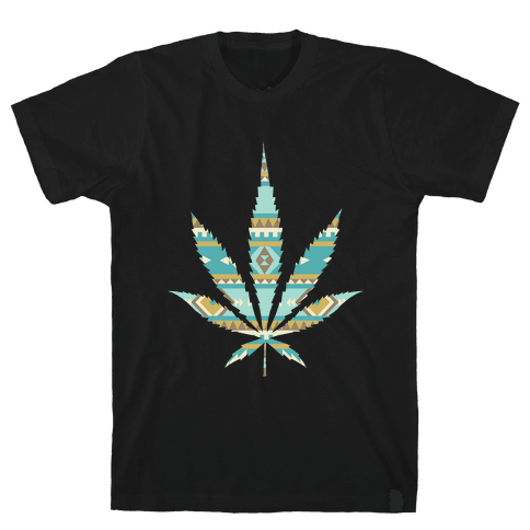 Navajo Leaf Mens T-Shirt