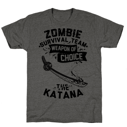 Zombie Survival Team Weapon Of Choice The Katana