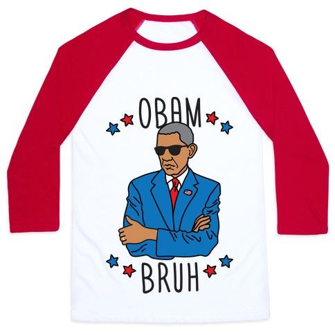 ObamBRUH Baseball Tee