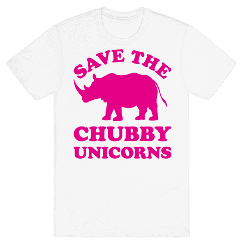 Save The Chubby Unicorns Mens T-Shirt