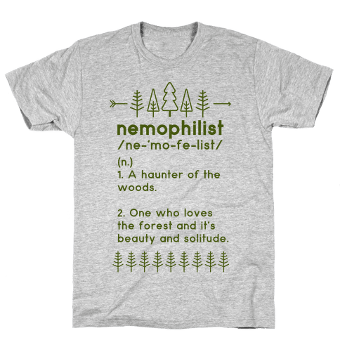 Nemophilist Definition Mens T-Shirt
