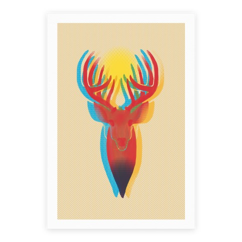 Pop Art Deer Head Poster