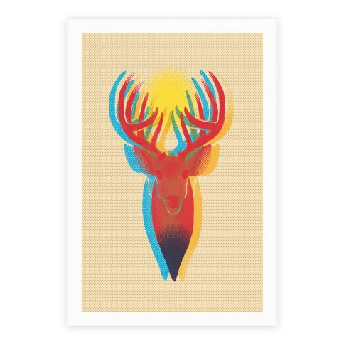 Pop Art Deer Head