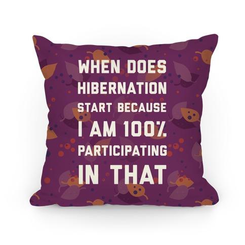 Hibernation Pillow