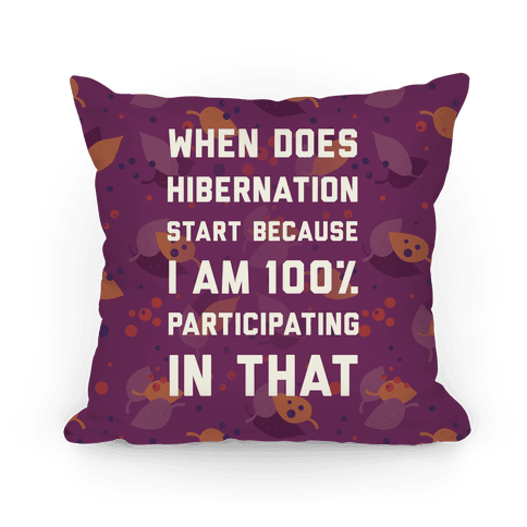 Hibernation Pillow