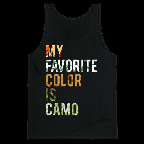 My Favorite Color Is Camo Tank Top