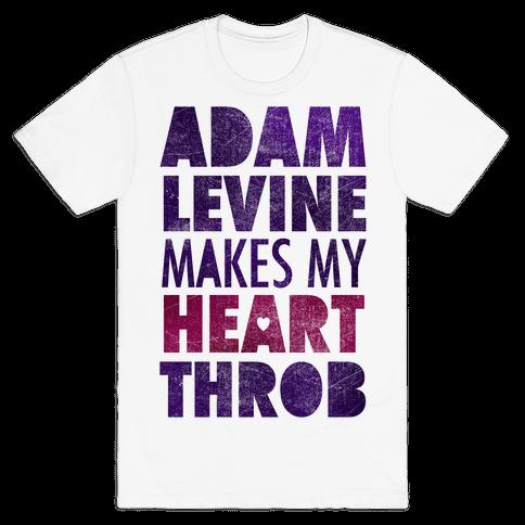 Adam Levine Makes My Heart Throb Mens T-Shirt