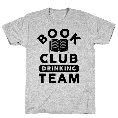 Book Club Drinking Team Mens T-Shirt