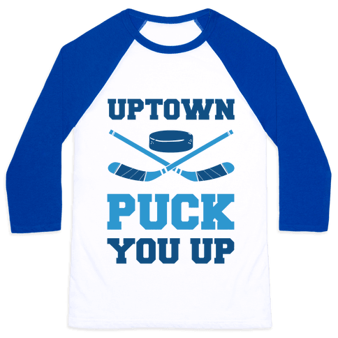 Uptown Puck You Up Baseball Tee