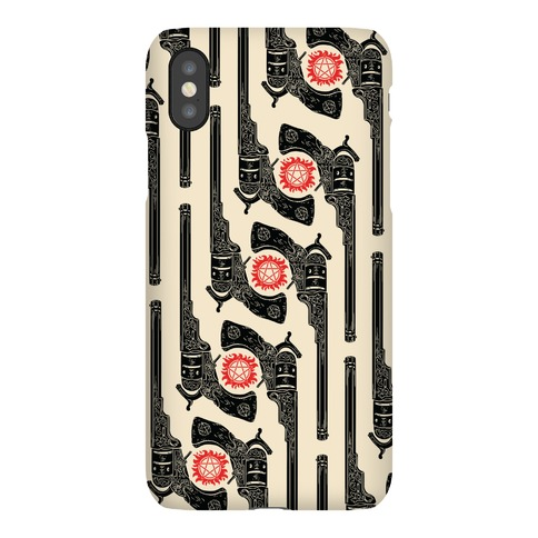 Supernatural Colt Revolver Pattern Phone Case