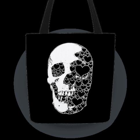 Heart Skull Tote