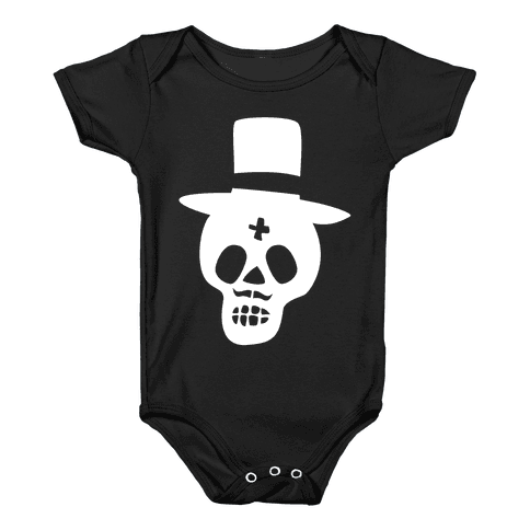 Skull Groom Baby Onesy