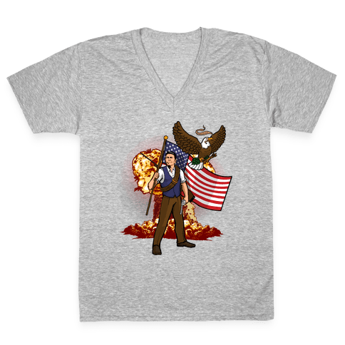Complete and Total Reaganation V-Neck Tee Shirt