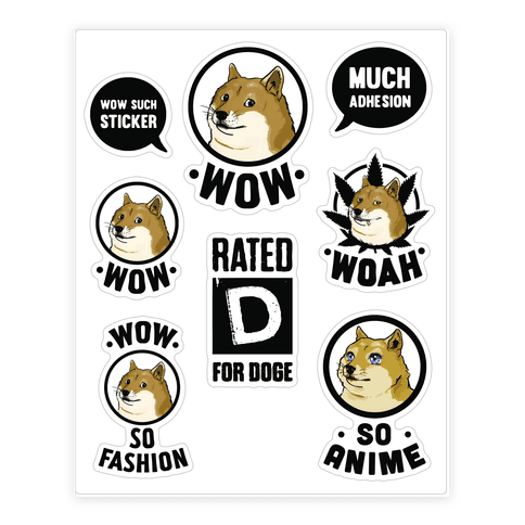 Doge Meme  Sticker/Decal Sheet
