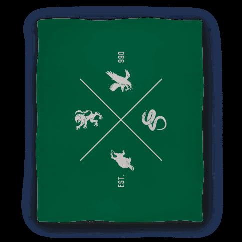 Hogwarts Crest Blanket (Slytherin) Blanket
