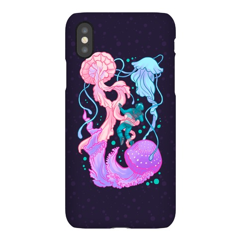 Deep Sea Diver & Jellyfish Phone Case