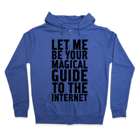 Magical Guide To The Internet Zip Hoodie