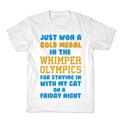 Whimper Olympics Gold Medalist Kids T-Shirt