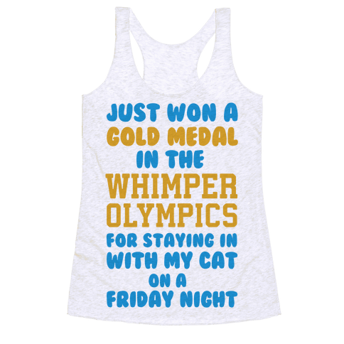 Whimper Olympics Gold Medalist Racerback Tank Top
