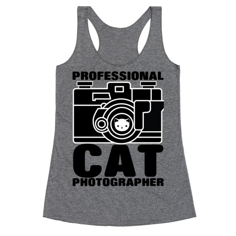 Professional Cat Photographer Racerback Tank Top
