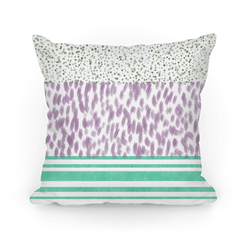 Watercolor Pattern Pillow