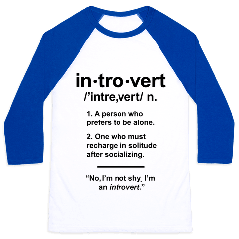 Introvert Definition Baseball Tee