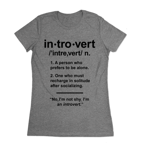 Introvert Definition Womens T-Shirt