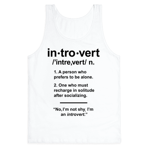 Introvert Definition Tank Top