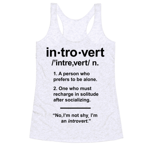Introvert Definition Racerback Tank Top