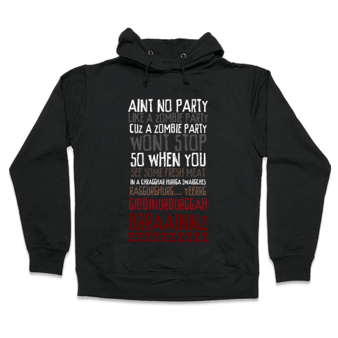 Zombie Party Hooded Sweatshirt