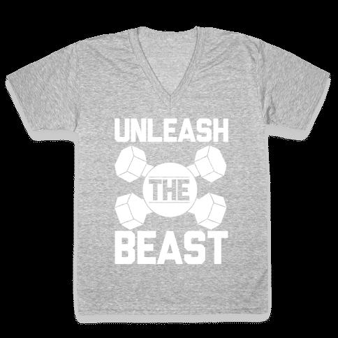 Unleash The Beast V-Neck Tee Shirt