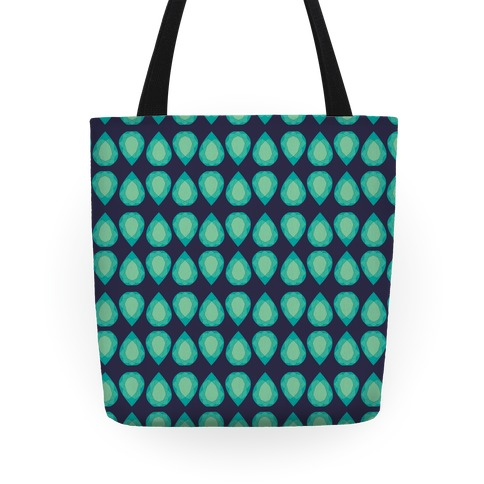 Teardrop Gem Pattern Tote