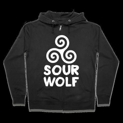 Sourwolf Zip Hoodie