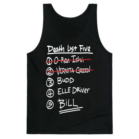 Death List Five Tank Top