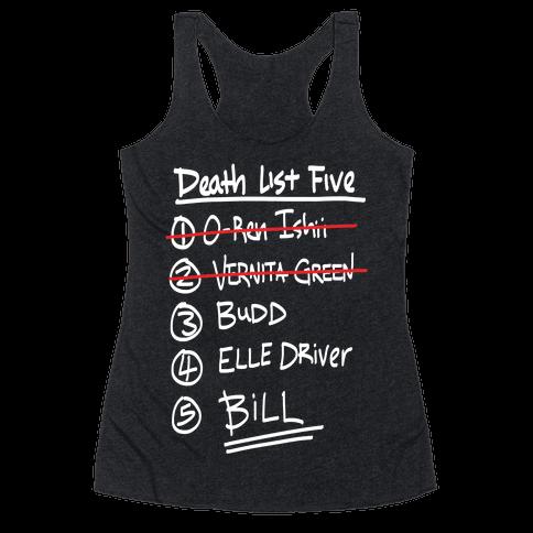 Death List Five Racerback Tank Top