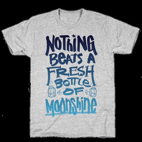 Nothing Beats A Fresh Bottle Of Moonshine (Tank) Mens T-Shirt