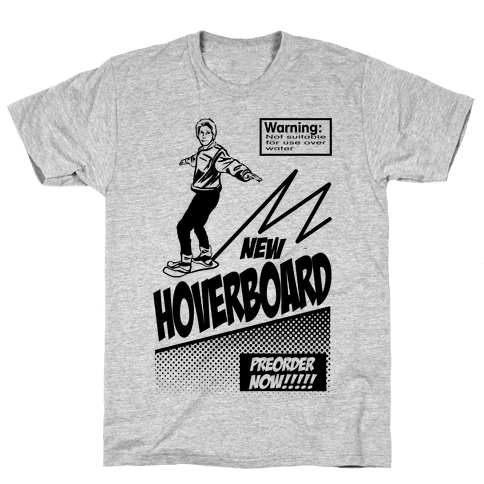 Hoverboard Advertisement Mens T-Shirt