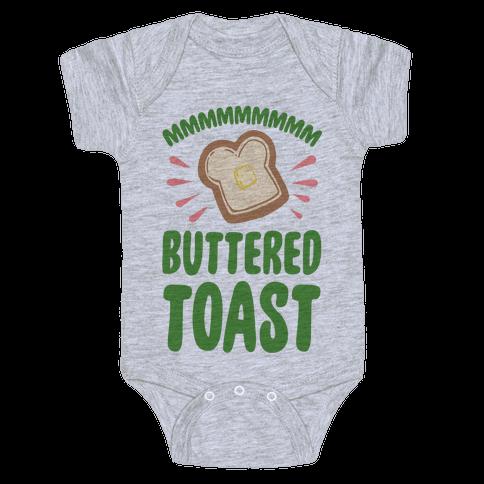 Mmmmmmm Buttered Toast Baby Onesy