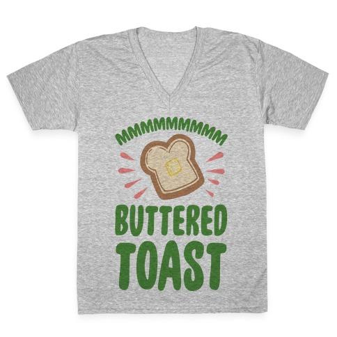 Mmmmmmm Buttered Toast V-Neck Tee Shirt