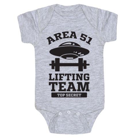 Area 51 Lifting Team Baby Onesy