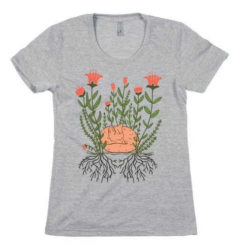 Sleeping Fox Womens T-Shirt