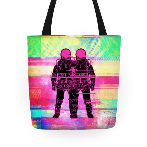 Twin Astronaut Glitch Tote