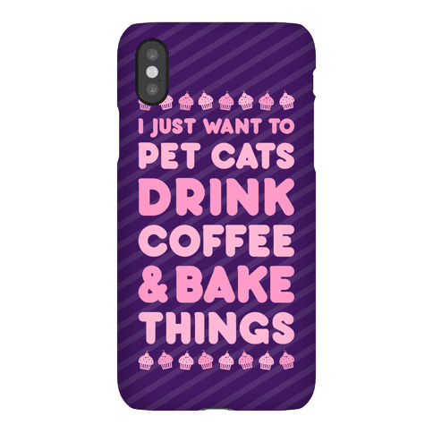 Pet Cats Drink Coffee Bake Things Phone Case