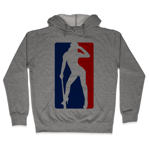 Cleat Chaser (Sexy NBA Logo Parody) Hooded Sweatshirt
