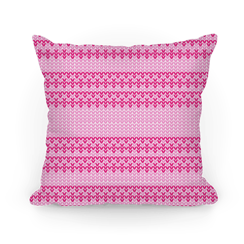 Faux Knitted Sweater Pink Pattern