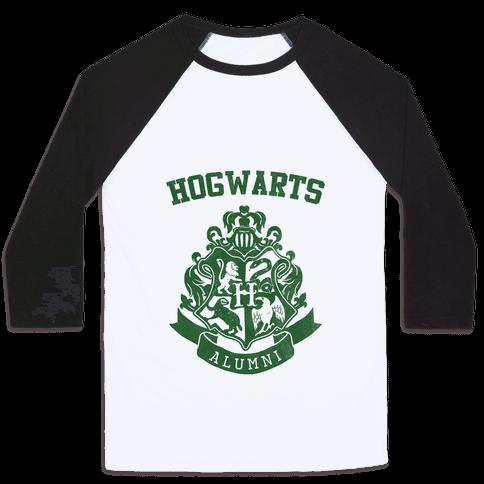 Hogwarts Alumni (Slytherin) Baseball Tee