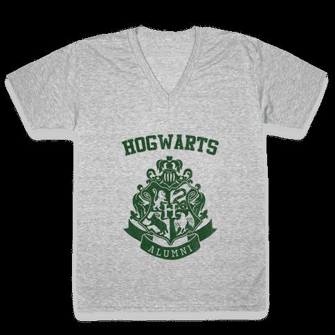 Hogwarts Alumni (Slytherin) V-Neck Tee Shirt
