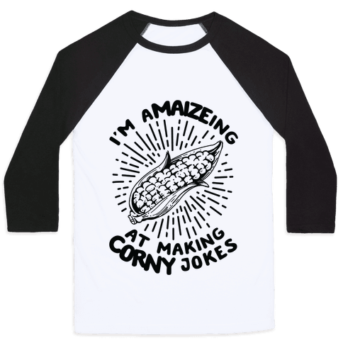 A-maize-ing Corny Jokes Baseball Tee